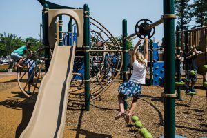 children playing on playground at Dwyer park